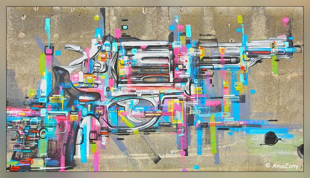 pif poef paf,hond,kyon,lieveheersbeestje,kever,klomp,hertenfarm,parkcoplus,graffiti,pistool,revolver