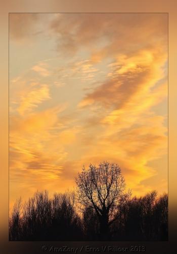 zonsondergang,geel,winter,maart,Puurs